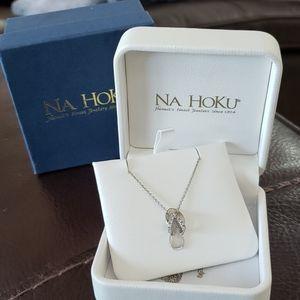 Na Hoku 14k white gold diamond slipper necklace